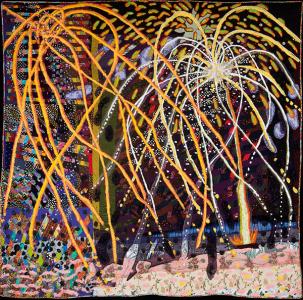 Terrie Hancock Mangat (1948), Taos Mountain Fireworks, 2011