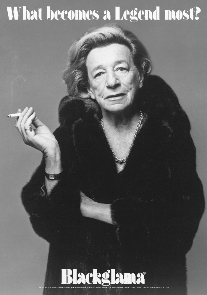 1976 Lillian Hellman - Blackglama