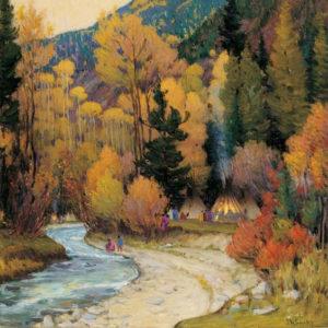 Apache Camp in Hondo Cañon, New Mexico (1920) - Joseph Henry Sharp