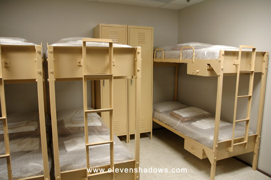 Dormitory at The Greenbrier's bunker