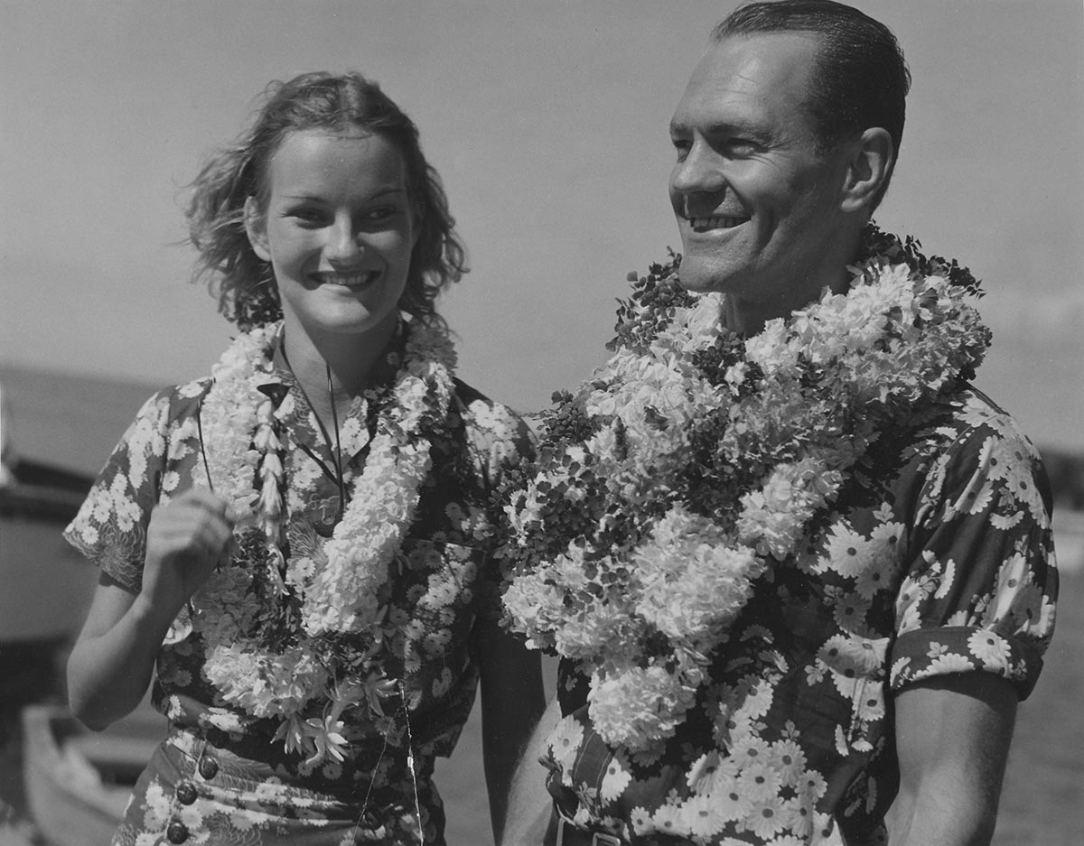 Doris Duke and James Cromwell - Hawaii