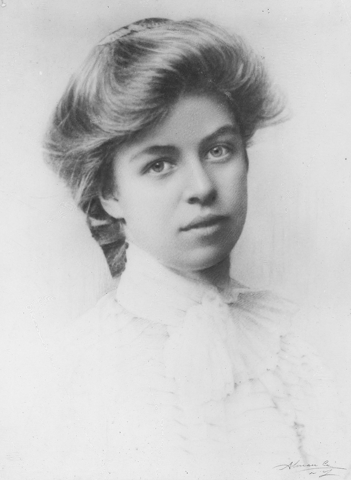 Eleanor Roosevelt, school portrait
