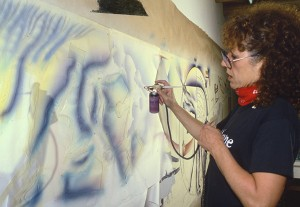 Judy Chicago Painting The Fall Cartoon