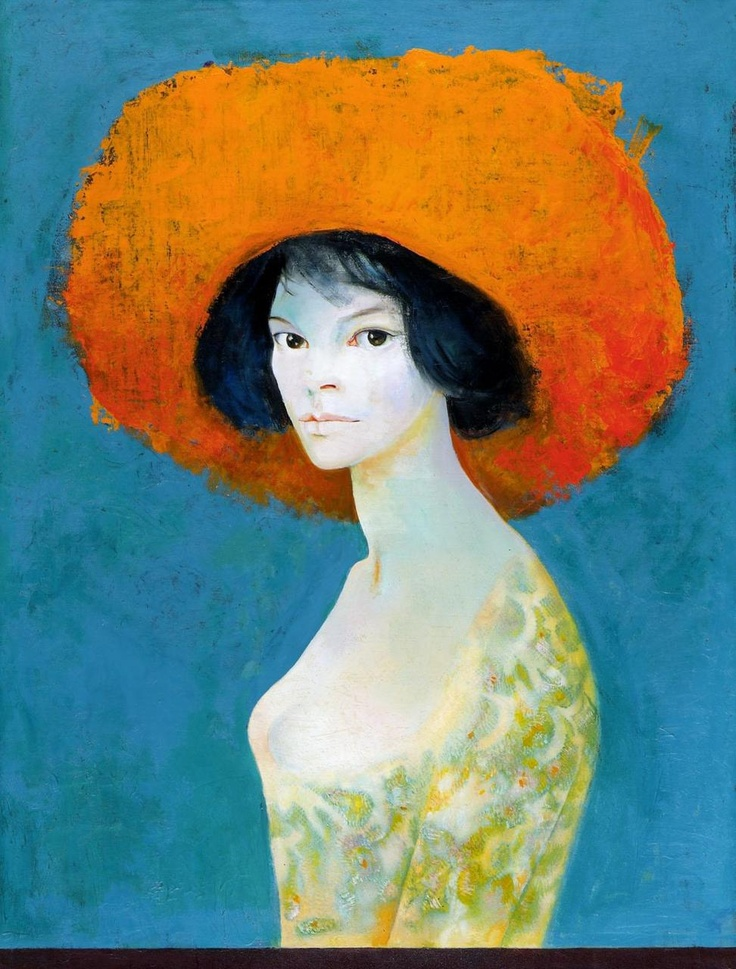 Leonor Fini, Self-Portrait with Red Hat
