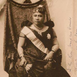 Photo of Queen Liliʻuokalani, 1891