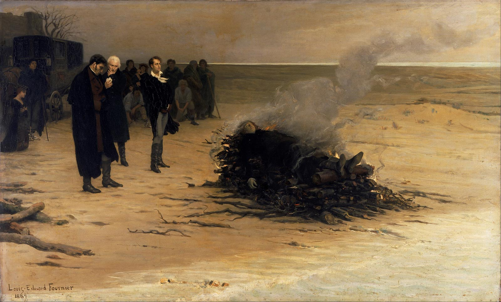 The Funeral of Shelley by Louis Édouard Fournier (1889)