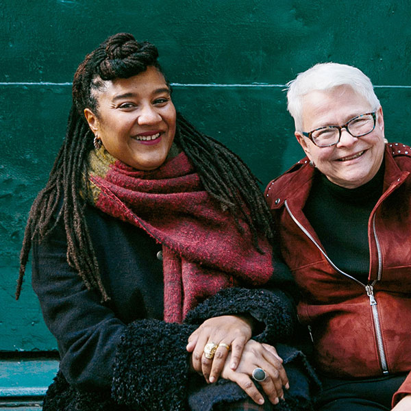 Lynn Nottage, left, and Paula Vogel in New York. Credit Tawni Bannister for The New York Times