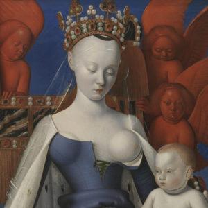 Madonna omringd door serafijnen en cherubijnen, Jean Fouquet, (1454-1456), Koninklijk Museum voor Schone Kunsten Antwerpen