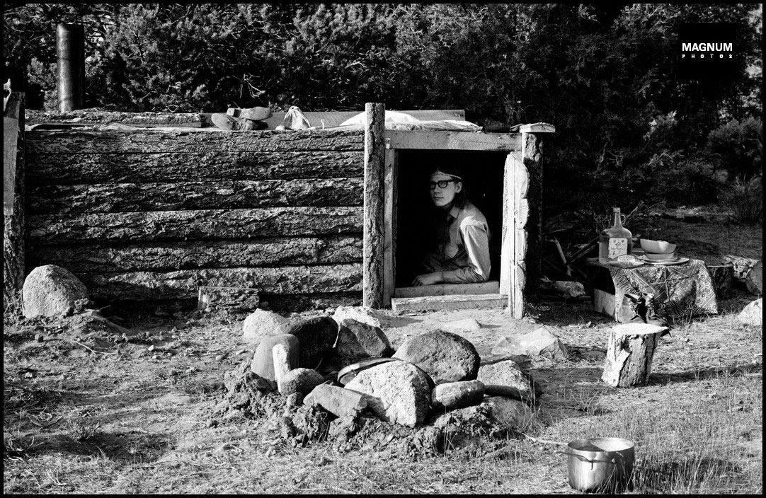 Dennis Stock - USA. New Mexico. 1969. Lorien commune. Copyright Magnum Photos.