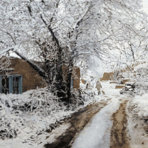 Santa Fe Snow, painting by Clark Hulings