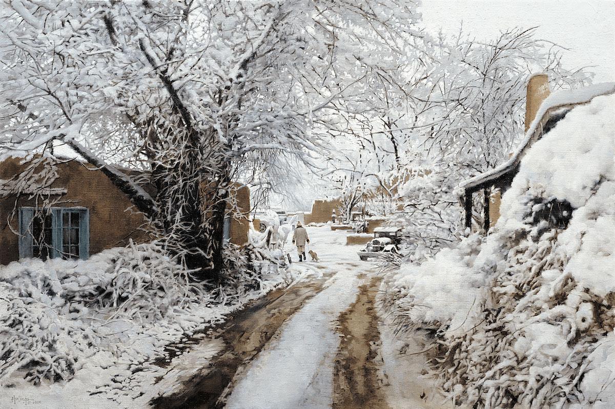 Santa Fe Snow by Clark Hulings