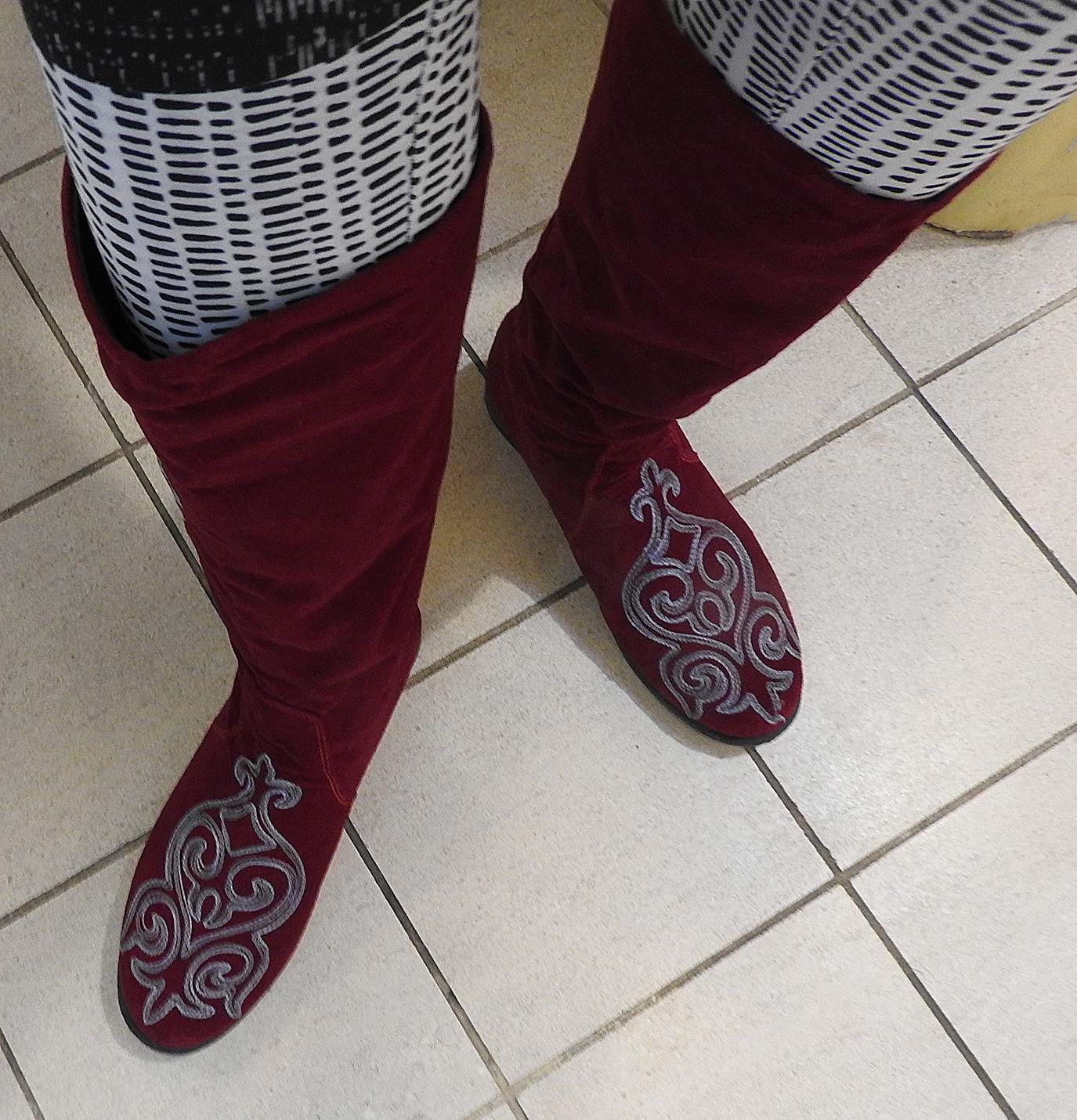 Valentines and Red Velvet Boots