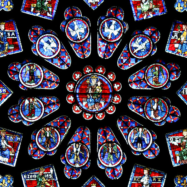 Virgin Mary - Rose Window, Chartres