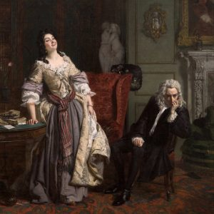 Painting by William Frith, Pope Makes Love To Lady Mary Wortley Montagu