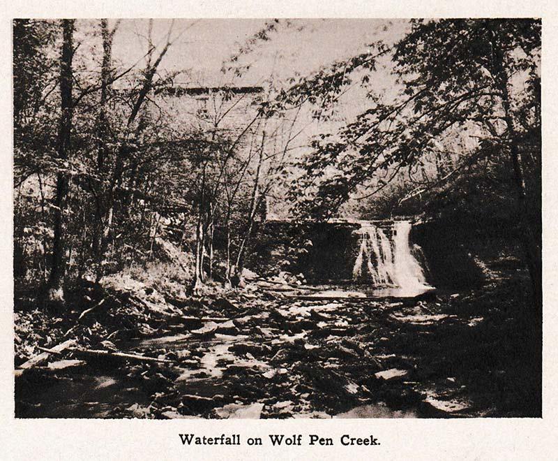 Waterfall on Wolf Pen Creek