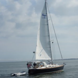 Aboard the Arabella: Tied up to a Buoy off Martha's Vineyard, August 16
