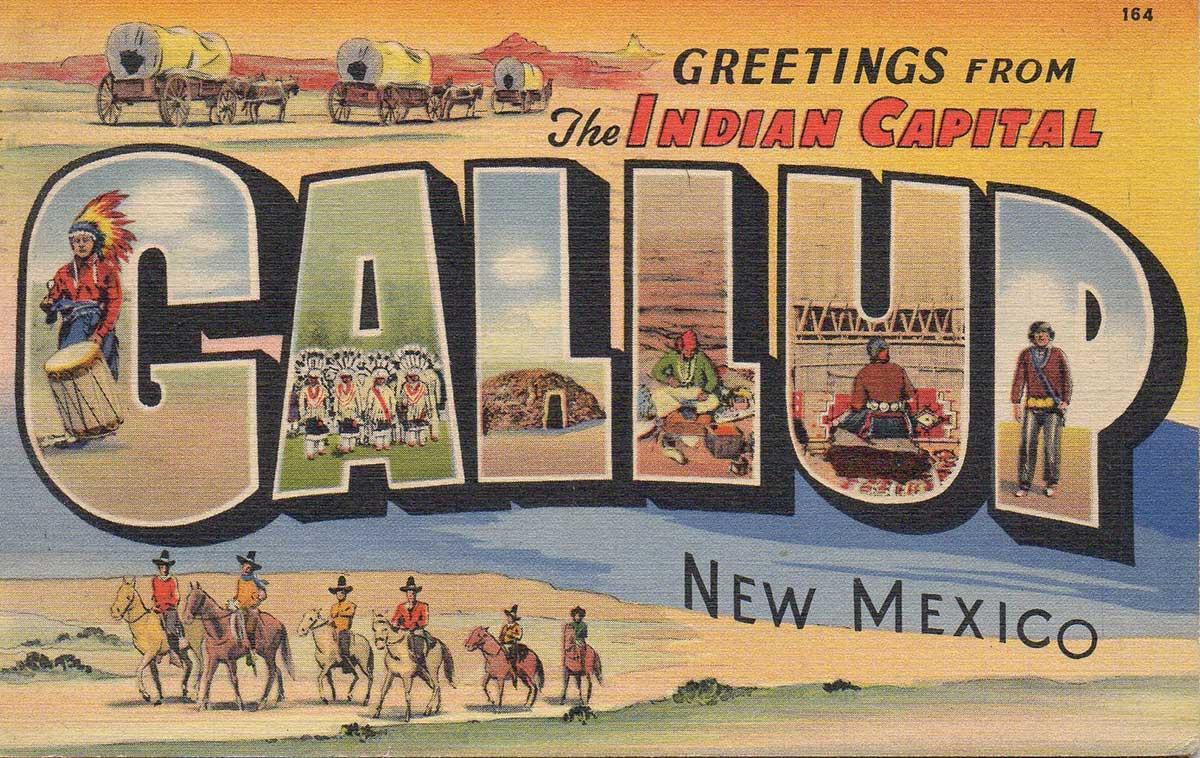 Gallup Vintage Postcard