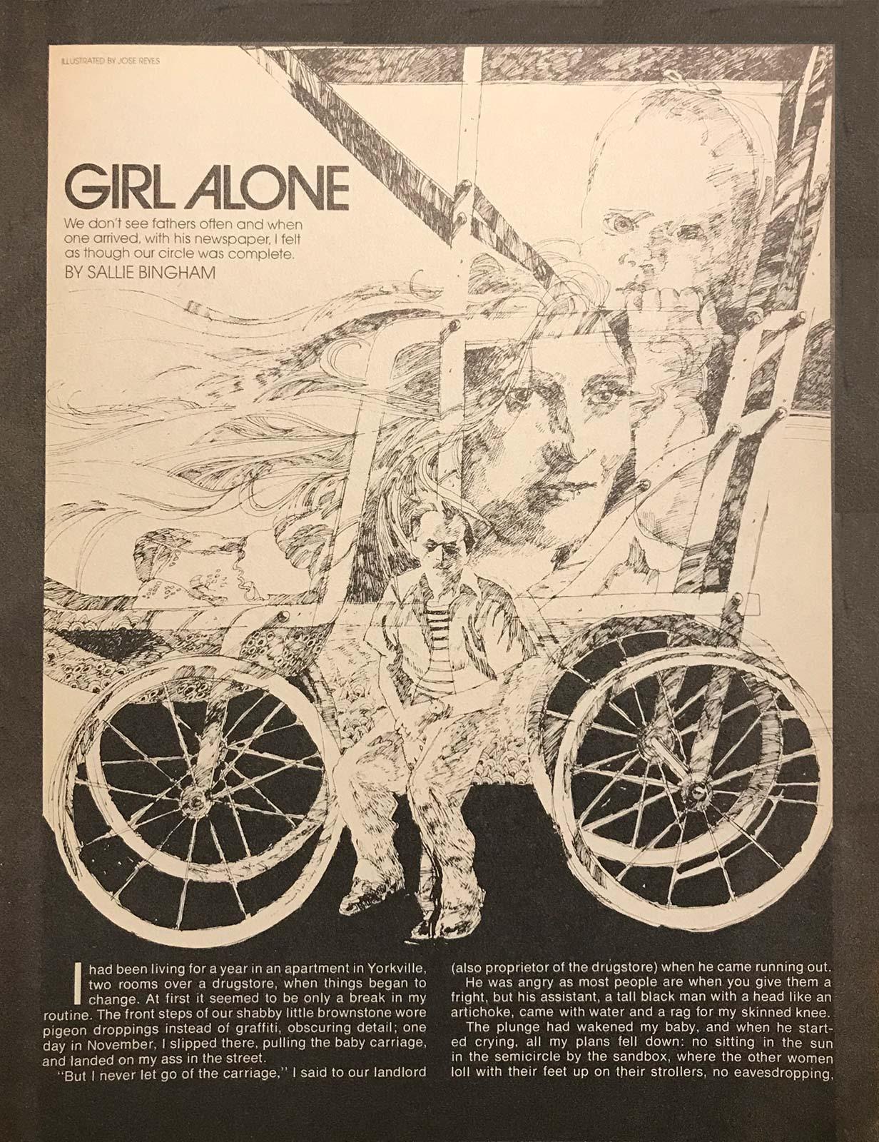 """Girl Alone"" - Playgirl Magazine"