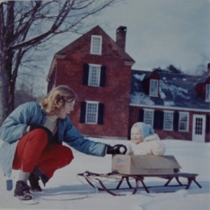 Girl and Baby in Snow