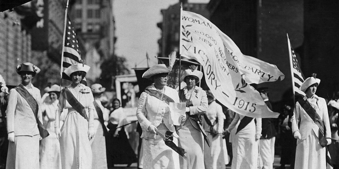 Women in NYC marching for equal rights