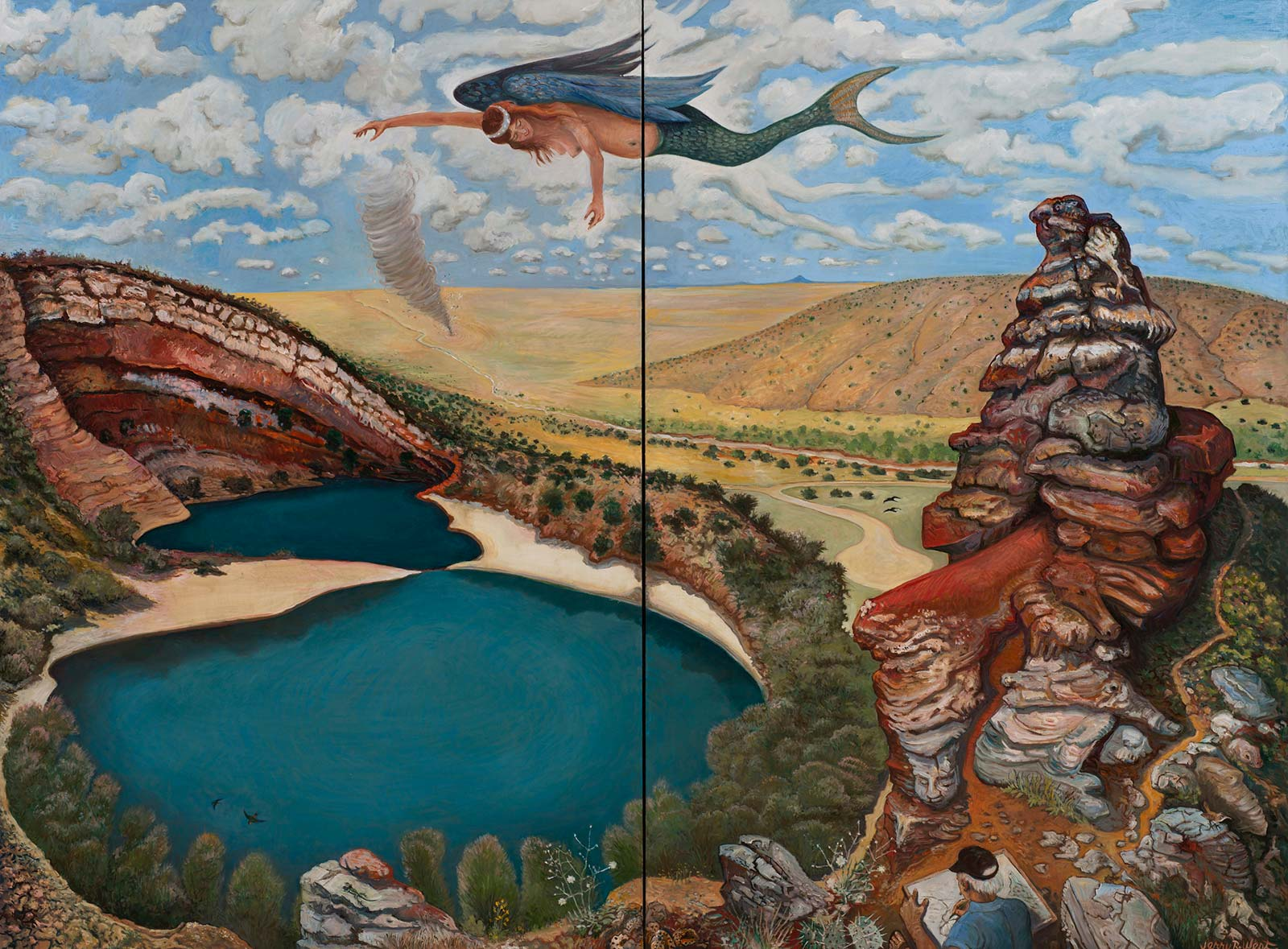 Painting by Jerry West, New Mexico