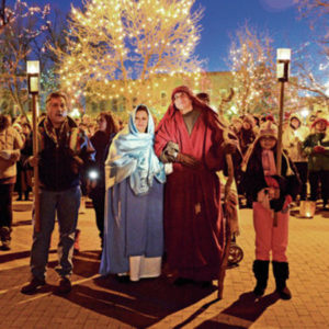 Las Posadas Procession in Santa Fe. Photo: Santa Fe New Mexican