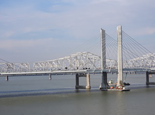 Downtown Bridge: Louisville, Kentucky