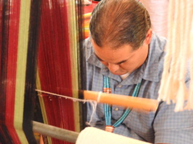 Navajo Weaver - Santa Fe Indian Market