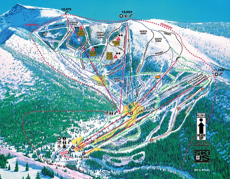 Santa Fe Ski Trail Map
