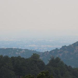 Photo of smoke over Santa Fe, New Mexico