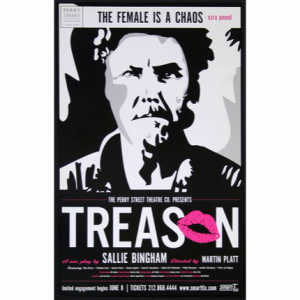 Poster for the play Treason