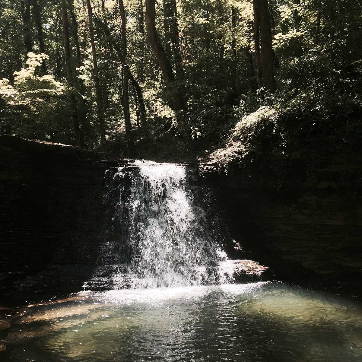 Wolf Pen Mill Farm Waterfall - Photo by Laurie Doctor